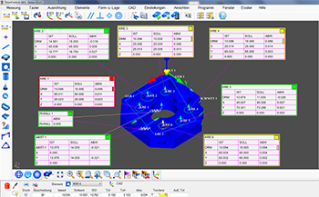 Measuring software for coordinate measuring machines